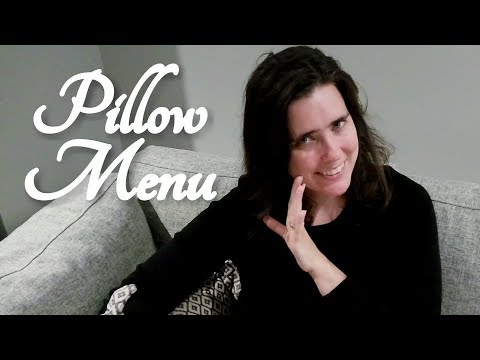 ASMR Pillow Menu Role Play (Five Star Hotel, Luxury, Mayfair Hotel Adelaide)