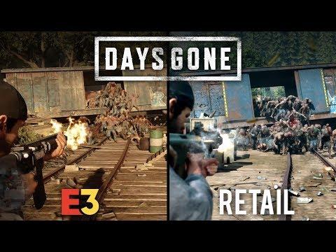 Days Gone E3 vs Retail | Direct Comparison
