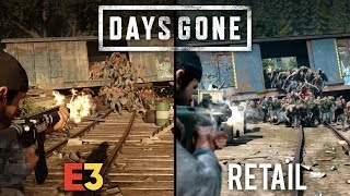 Days Gone E3 vs Retail | Direct Comparison