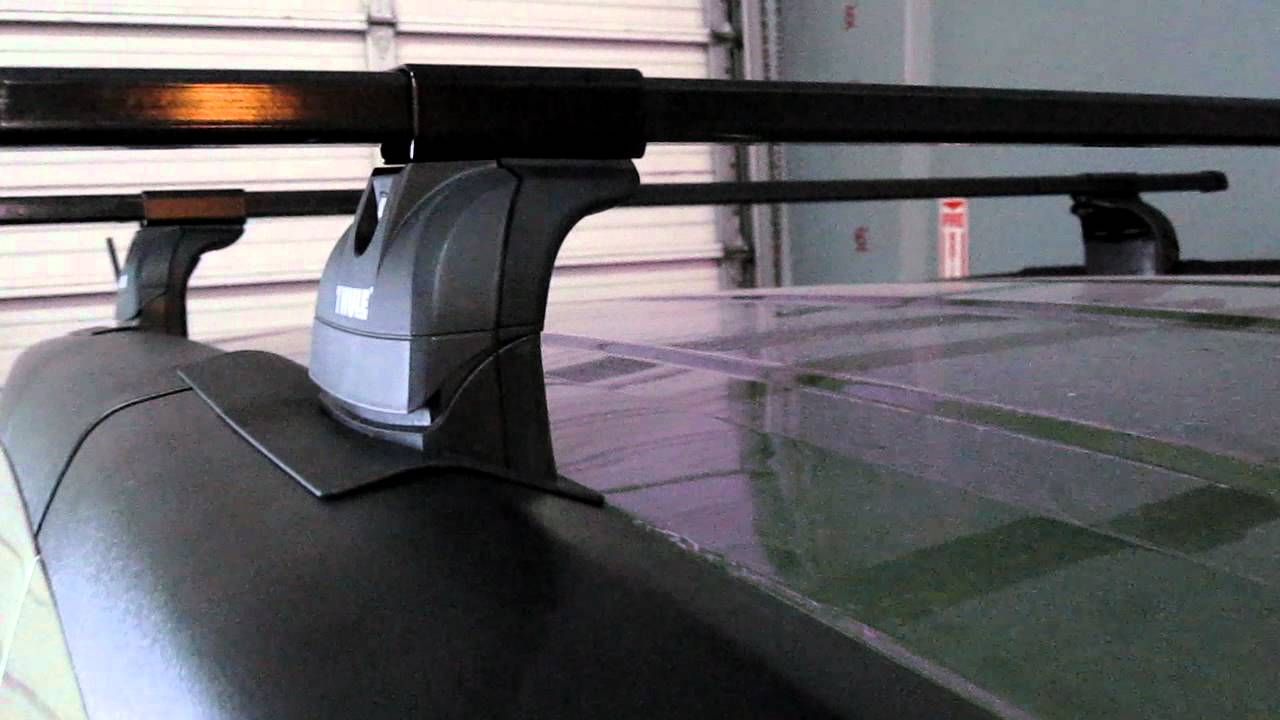 Honda Element With Thule Podium Base Roof Rack By Rack Outfitters