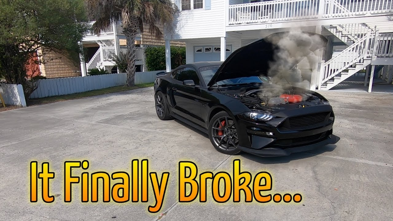 R i p cant believe i destroyed a automatic 2018 mustang gt stangmodes black mamba