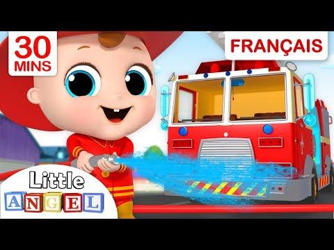 Le Camion de Pompier - AU FEU - Comptines pour bébé et Chanson pour enfants