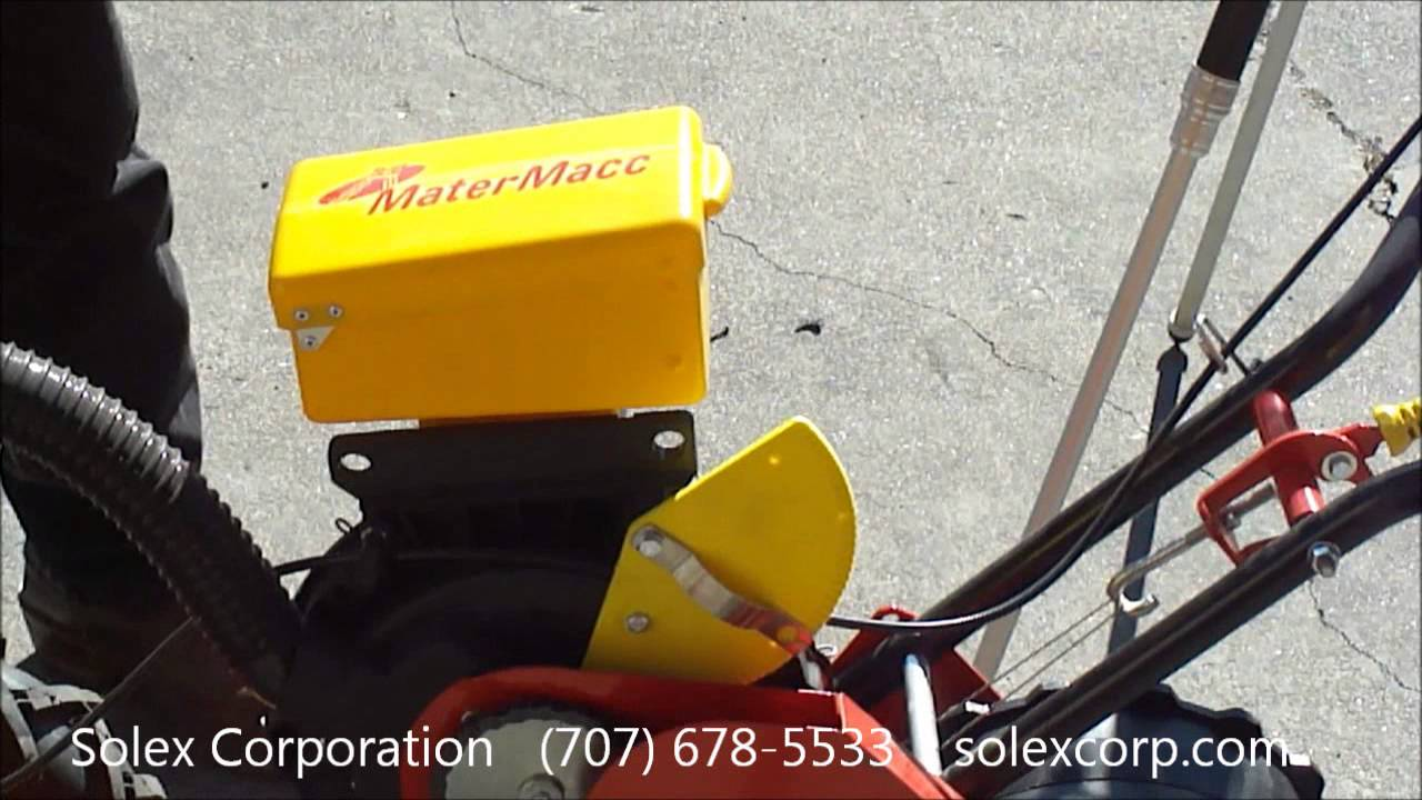 Matermacc Walk Behind Planter Youtube