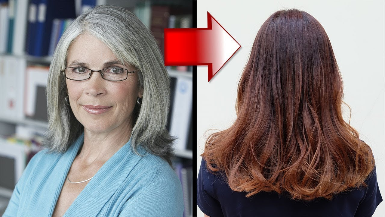 graue haare färben frauen