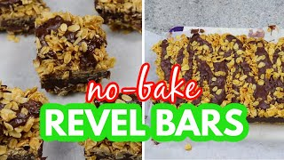 NO BAKE REVEL BARS | Easy and NO OVEN needed!