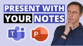 How to access your notes when presenting in a Microsoft Teams meeting