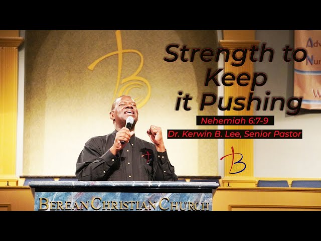 09-13-2020 Sunday Service: Strength to Keep it Moving