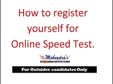 HOW TO REGISTER FOR ONLINE SPEED TEST(OUTSIDER STUDENTS) - YouTube