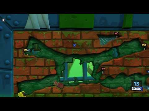 First time ever playing this game.. (WORMS REVOLUTION) |