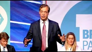 Farage: Time to replace this self-serving political class - Brexit Party rally, Peterborough