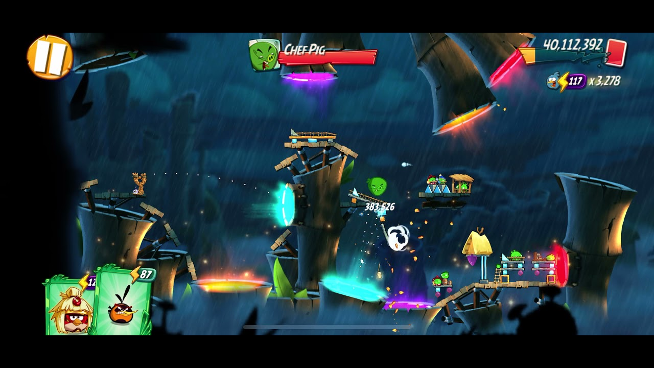 """Download Angry Birds 2, Level 1606, """"Luxembird""""  """"Super tough boss room""""."""