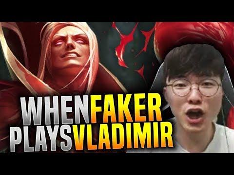 When Faker Plays Vladimir in Korea! - SKT T1 Faker Clean Vladimir Mid! | SKT T1 Replays