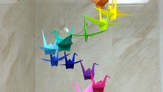 How To Make a Colorful Origami Crane Mobile - DIY Home Tutorial - Guidecentral