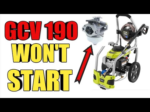 Ryobi gcv190 Pressure Washer Won't Start