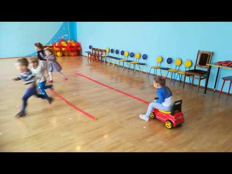 """Игра по физкультуре в детском саду """"Воробушки и автомобиль"""" для младшей группы"""