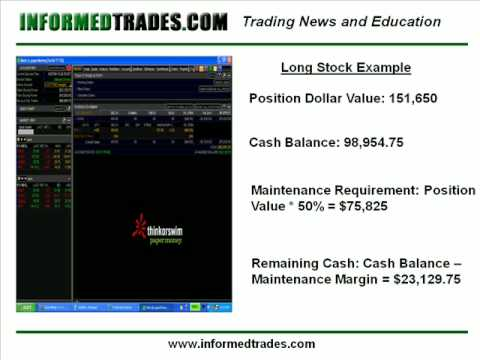 160. How to Buy and Sell Stocks on Margin - Live Examples