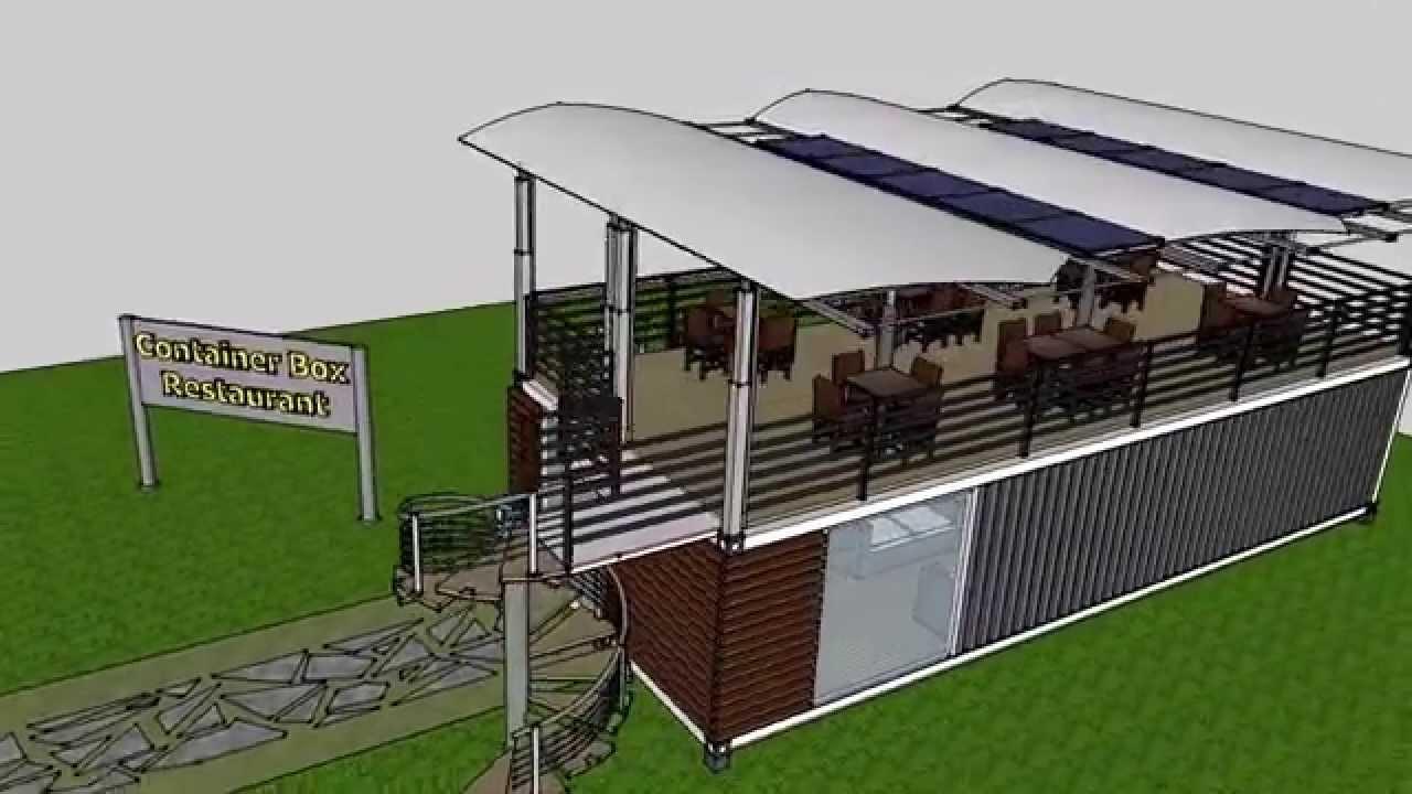 Ristorante bar container shelter box produzione vendita noleggio youtube - Piscine container ...