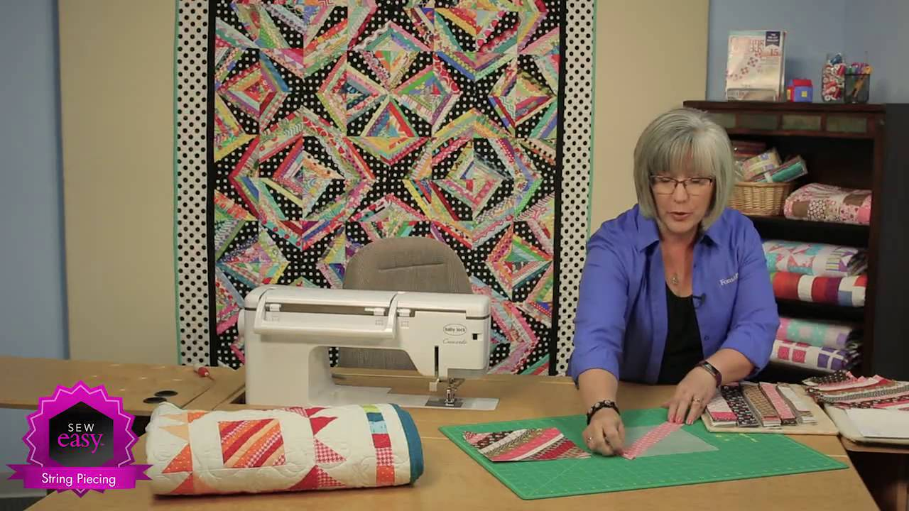 Sew easy string piecing 3 variations for your quilt patterns sew easy string piecing 3 variations for your quilt patterns youtube jeuxipadfo Image collections