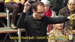 Concert au marché de Noël de l'harmonie municipale