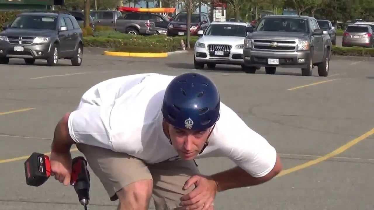 Fast Drill Powered Skateboard  KRANX Power Sk8 Conversions  YouTube