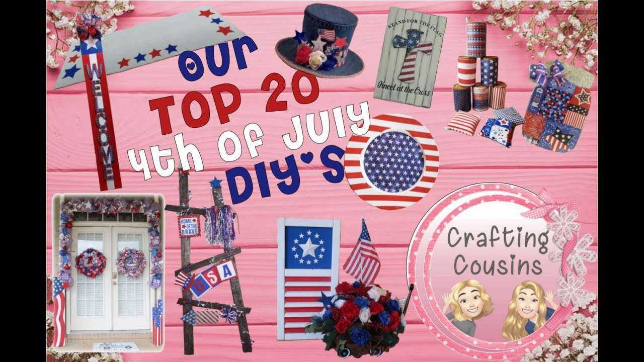 HIGH END PATRIOTIC DIY'S   4TH OF JULY   Farmhouse   Dollar Tree Project   Party Decor   Home Decor