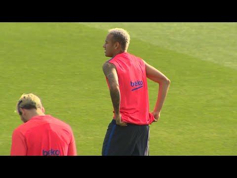Neymar se despide de sus compañeros del FC Barcelona