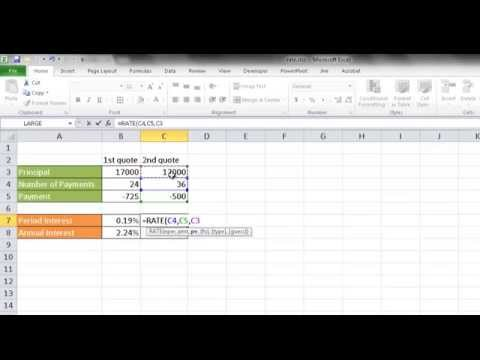 Calculate the Interest Rate on a Car Loan