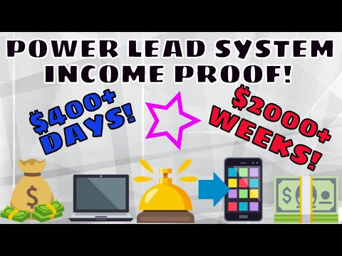 Power Lead System Income Proof | How To Earn Online No Experience