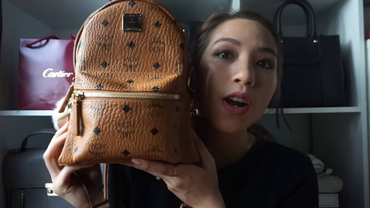 REVIEW  MCM MINI STARK BAG - YouTube 7f6ed18a7dced