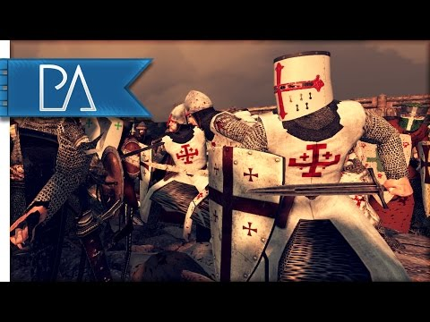 Great Crusader Defense: Surrounded By Jihadist  - Medieval Kingdoms Total War 1212AD Mod Gameplay