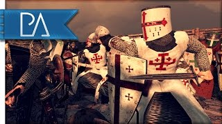 great-crusader-defense-surrounded-by-jihadist-medieval-kingdoms-total-war-1212ad-mod-gameplay