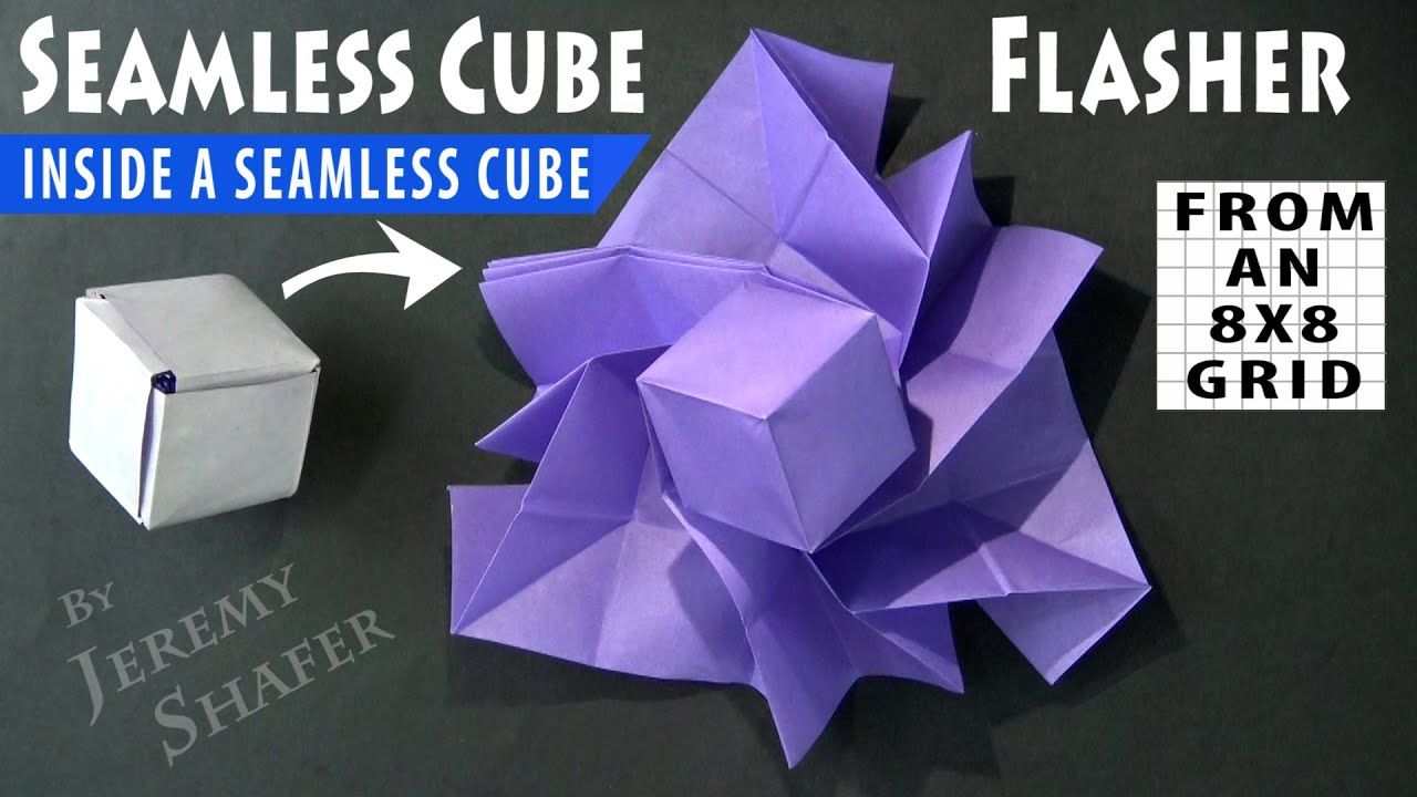 Seamless Cube Flasher 💥 8X8 Grid 💥 Cube Inside Cube🥇Origami