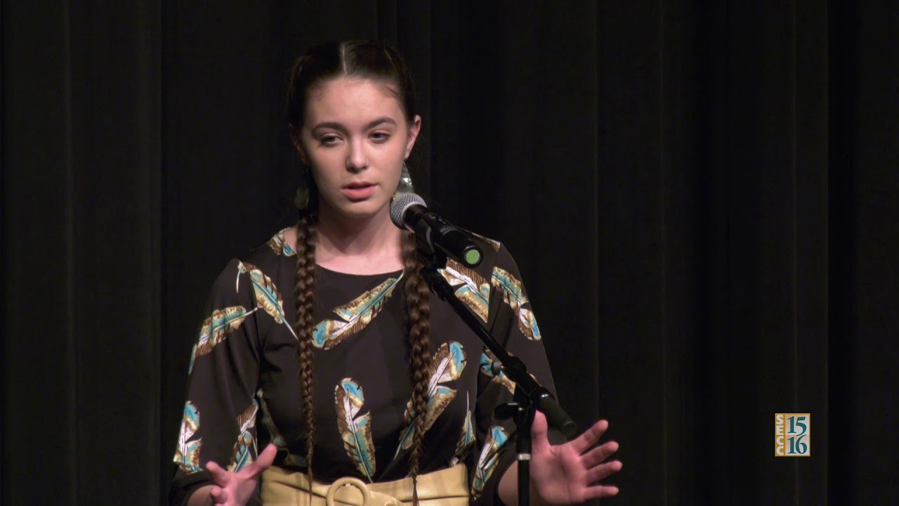 Poetry Out Loud 2018: Sage Innerarity (Round 1)