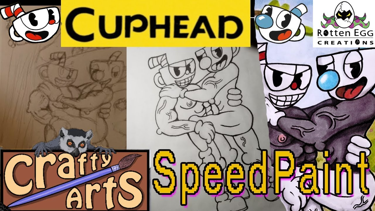 Cuphead Cringe Art CraftySpeedPaints With Music by CraftyArts