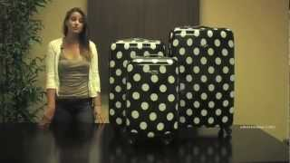 Rockland F208 Designer 3-Piece Lightweight Hardside Spinner Luggage Set Thumbnail