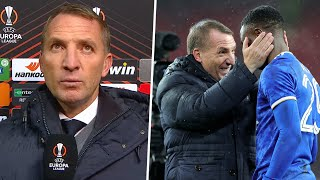 Brendan Rodgers reacts to thrilling Leicester victory and four goals from Patson Daka