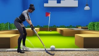 INSANE 15 HOLE CRAZY GOLF COURSE In Fortnite Creative! (with code)