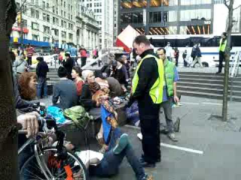 Arrest for Lying down Occupy wall street zuccotti park