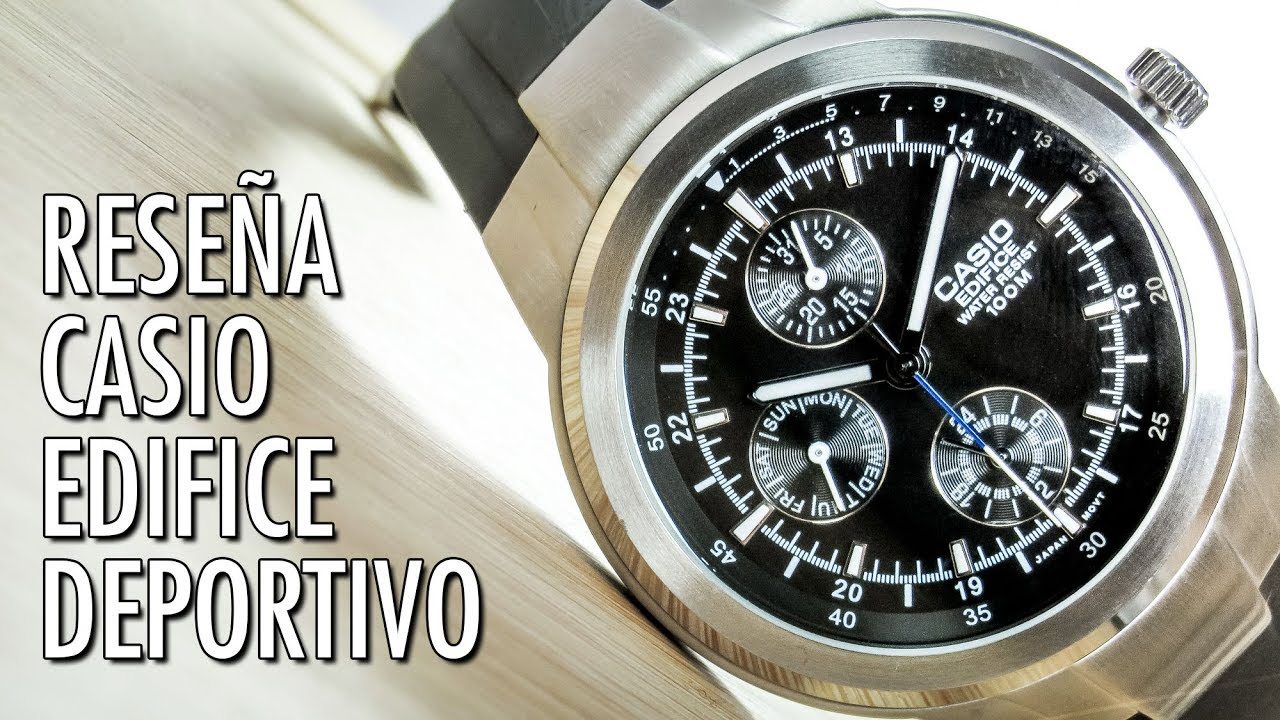 bc58d1124b76 Reseña Casio Edifice EF-305 Reloj Deportivo de Cuarzo en Español ...