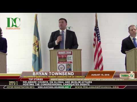 Transitioning Economy and Delaware: Bryan Townsend at Congressional Candidates Debate 8/15/2016