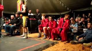 Mick Usher fights challenger  - Outback Fight Club -  Birdsville 2015