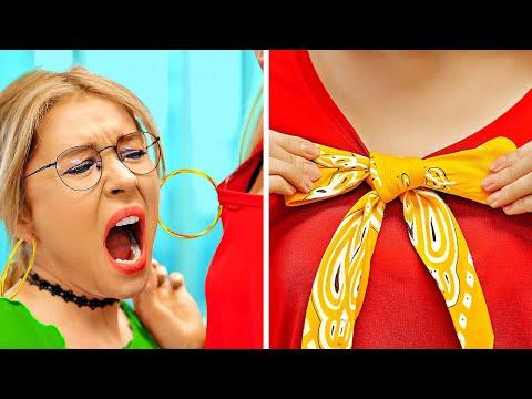 TRUCCHI ALLA MODA FACILI E VELOCI PER NOI RAGAZZE || Trucchi per Vestiti senza Cucire da 123 GO!