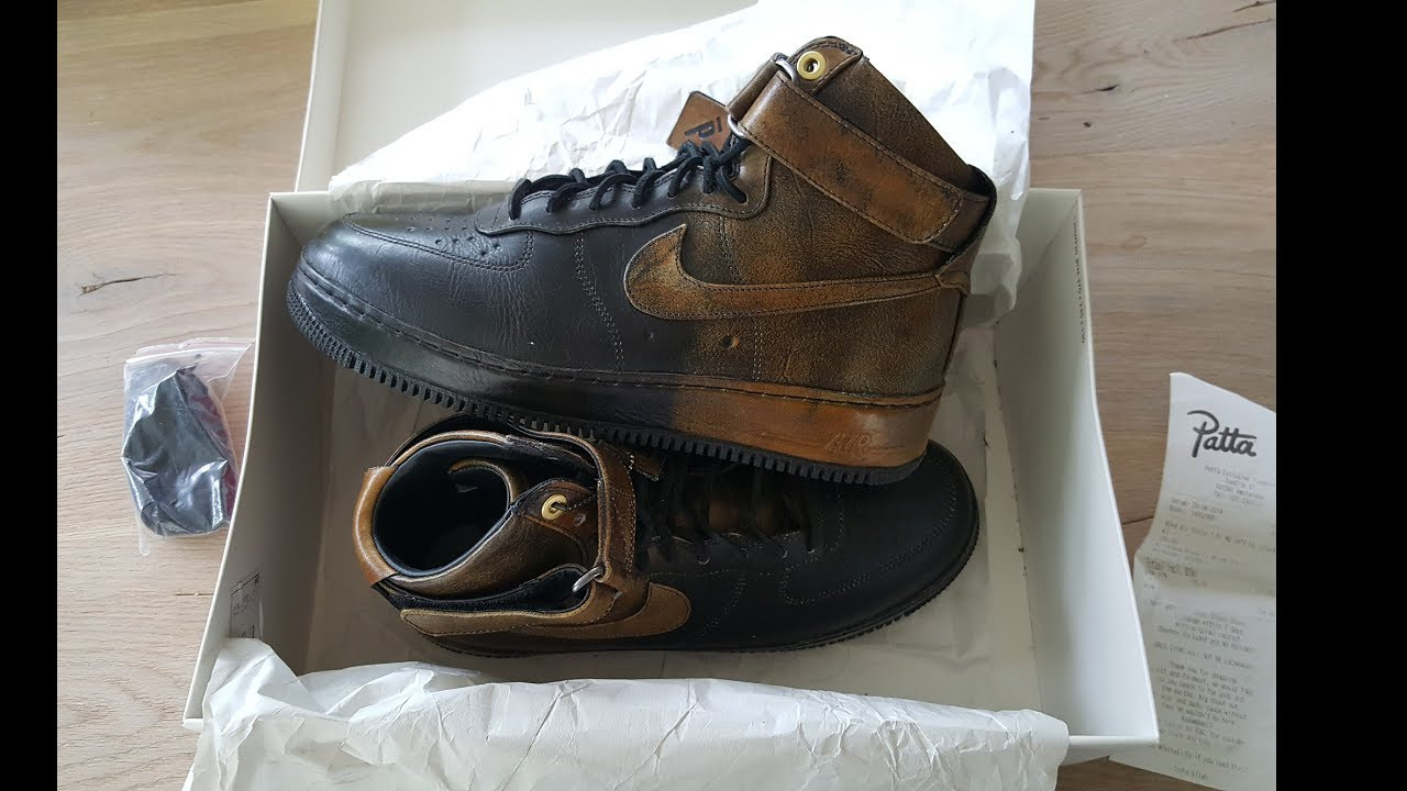 the latest f3369 9cb0e unboxing unpacking Nike Air Force 1 HI NG CMFT LW 677129 090 Pigalle