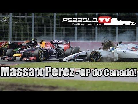 GP do CANADÁ de Fórmula 1 - ACIDENTE MASSA X PEREZ