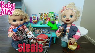 BABY ALIVE Goes Grocery Shopping baby alive videos