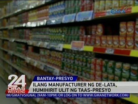 24 Oras: Ilang manufacturer ng de-lata, humihirit ulit ng taas-presyo