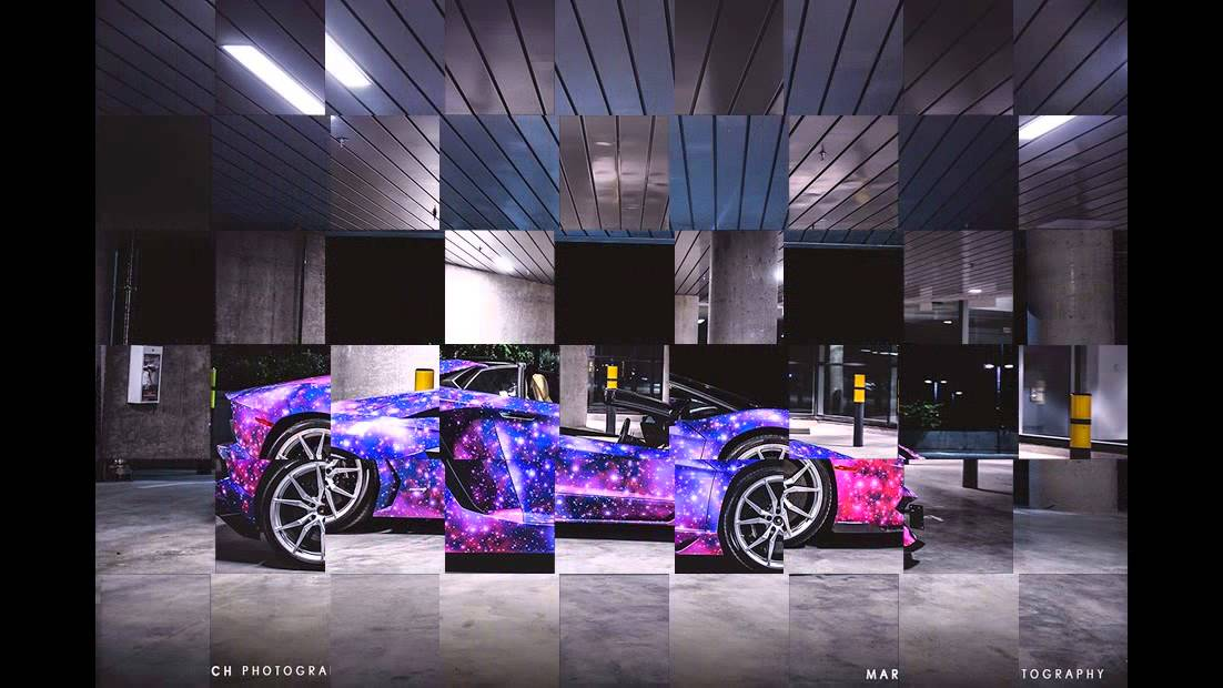 Lamborghini Aventador Galaxy Paint Scheme Modification Youtube