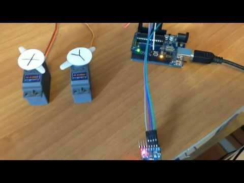 How To control MPU 6050 GY 521 with Arduino and servo motors