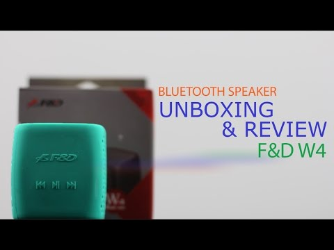 F&D W4 Unboxing | First Impressions | Review | 360 Sound Test | Bluetooth Speaker