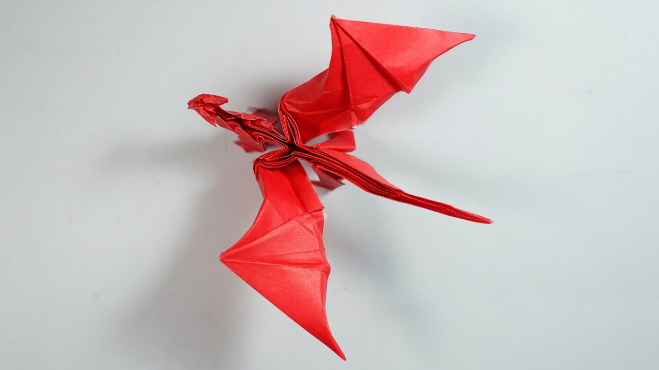 Origami Dragon 80 Intermediate Version Tutorial Henry Pham